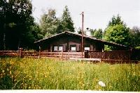 Comfortable Blockhausbungalow near a small lake close to Naturpark Hoher Vogelsberg