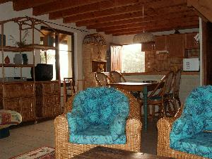 'le salon' - living area with kitchen