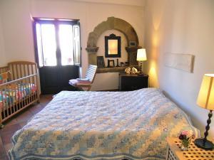 Bedroom with small balcony