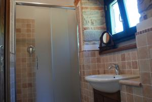 The ground level bathroom