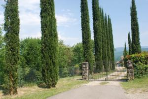 The entry gate to the villa