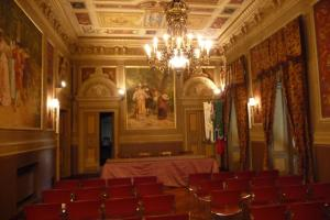 conference hall of the commune in Pieve di Teco