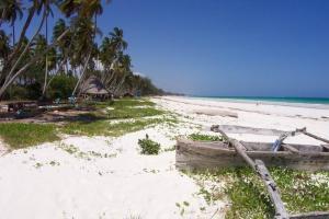 A dreamlike white beach...
