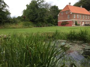 Small lake in the garden and the main house